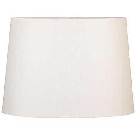 Eggshell Oval Hardback Linen Shade 16/12x18/14x12 (Spider)