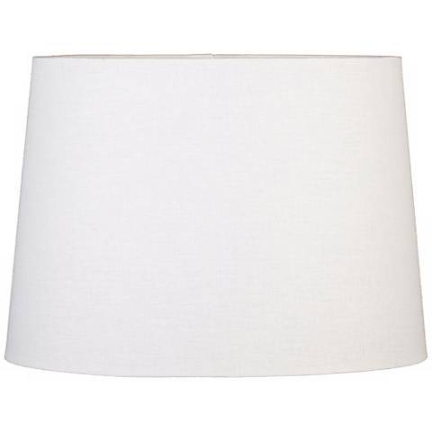 Off-White Oval Hardback Linen Shade 10/7x12/8x9 (Spider)