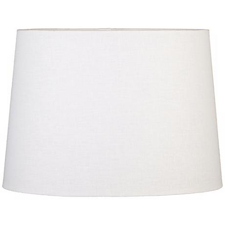 Off-White Oval Hardback Linen Shade 10/7x12/8x9 (Spider)