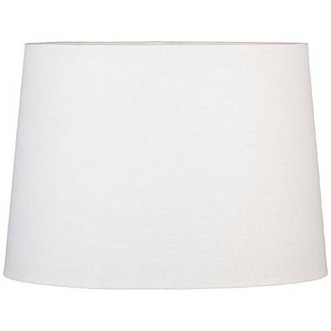 Off-White Oval Hardback Linen Shade 14/10x16/12x11 (Spider)