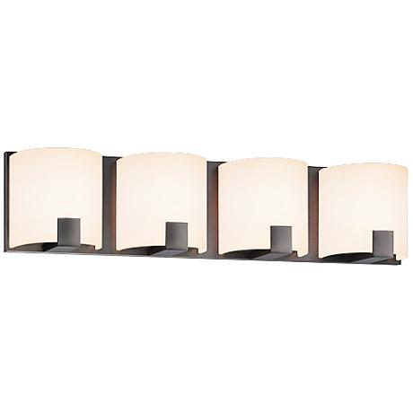 "Sonneman C-Shell 21 1/2"" Wide Satin Nickel LED Bath Light"