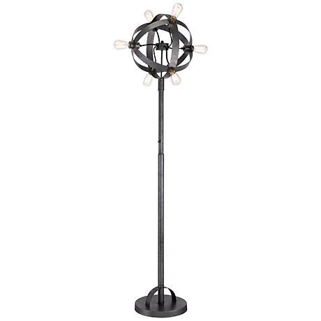 Franklin Iron Works Gage Industrial 6-Light Floor Lamp