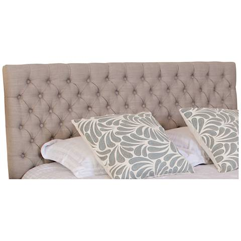 Bierman Light Beige Full/Queen Upholstered Headboard