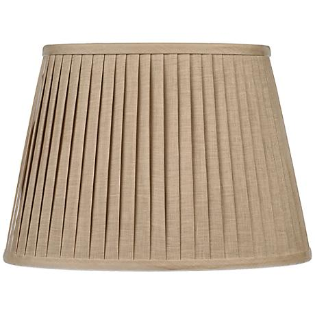 Oat Knife Pleat Oval Shade 14/10x18/14x12 (Spider)