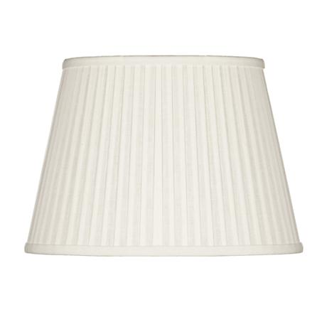 Off-White Oval Softback Linen Shade 9/5x12/8x9 (Spider)
