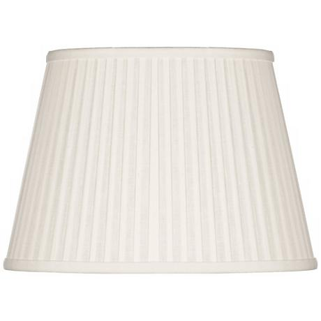 Off-White Oval Softback Linen Shade 10/7x14/10x10 (Spider)