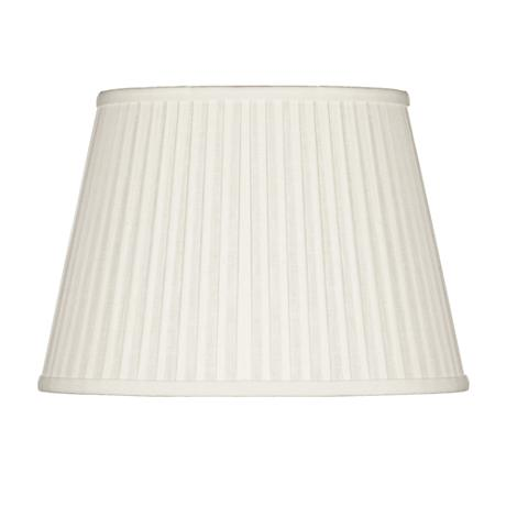 Off-White Oval Softback Linen Shade 12/8x16/12x11 (Spider)