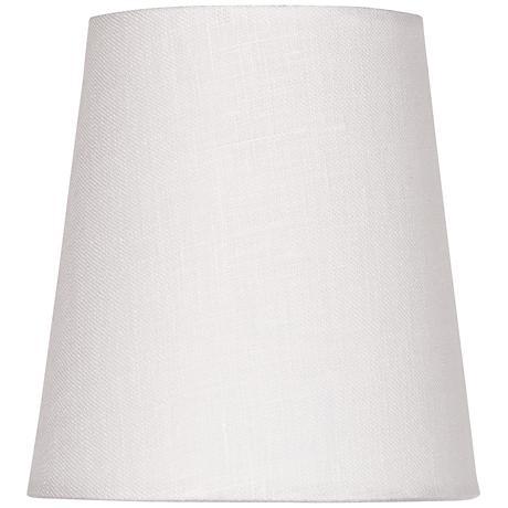 Off-White Linen Drum Hardback Shade 3x4x4.5 (Clip-On)