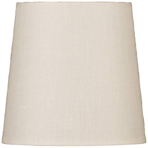 Eggshell Drum Hardback Linen Shade 4x5x5 (Clip-On)