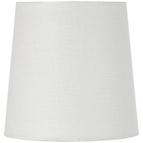 Off-White Linen Drum Hardback Shade 4x5x5 (Clip-On)