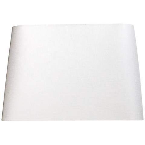 Off-White Hardback Rectangular Shade 12x7/14x9/x10 (Spider)