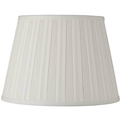 Off-White Euro Box Pleat Linen Shade 10x14x10 (Spider)