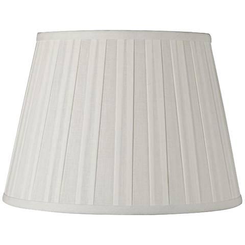 Off-White Euro Box Pleat Linen Shade 11x17x11 (Spider)