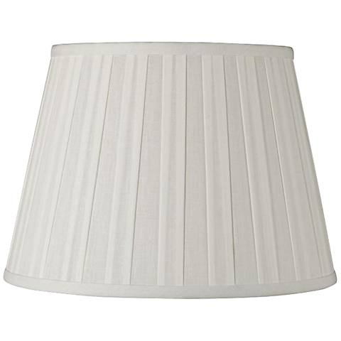 Off-White Euro Box Pleat Linen Shade 12x18x12 (Spider)