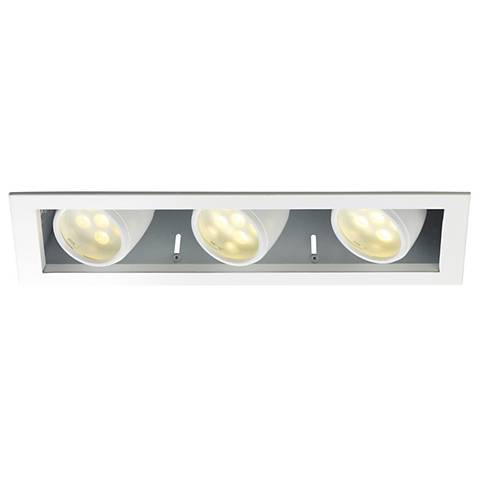 WAC LEDme® Triple Spotlight Recessed Trim with Housing