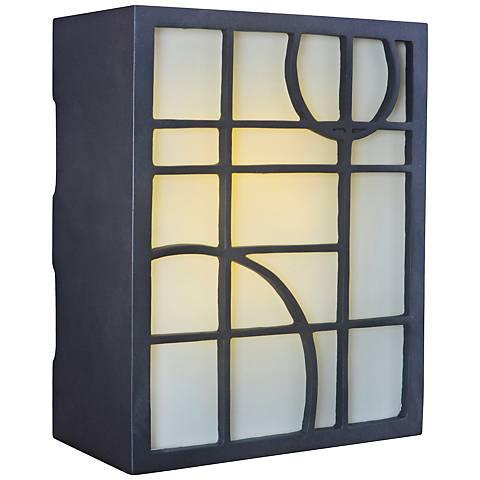 Geometric Bronze and Amber Glass Illuminated Door Chime