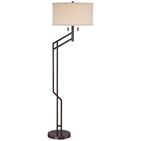 Possini Euro Tyler Angular Bronze Floor Lamp 5y647