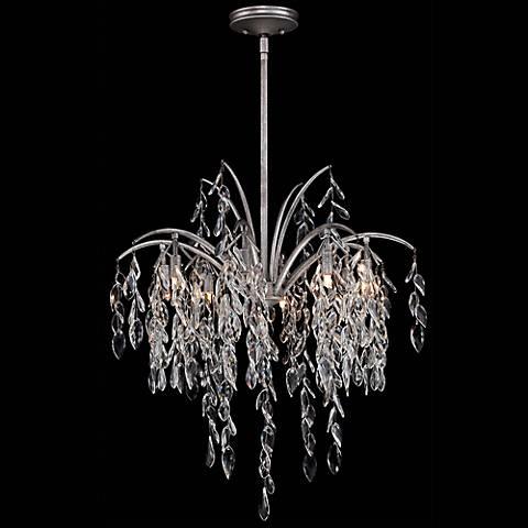 """Metropolitan Bella Flora 26 3/4""""W Silver Mist Chandelier"""