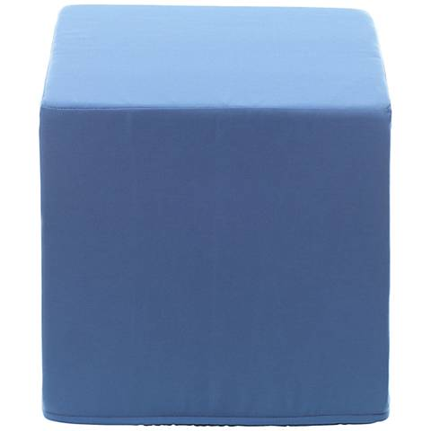 Sunbrella Sapphire Indoor/Outdoor Cube Pouf Ottoman