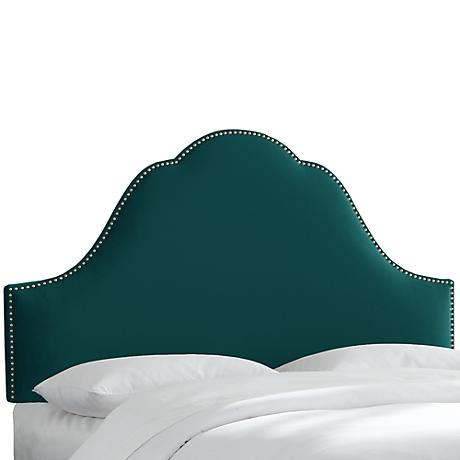 Mystere Peacock High-Arch Headboard