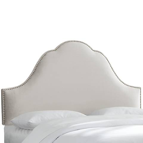 Mystere Dove High-Arch Headboard