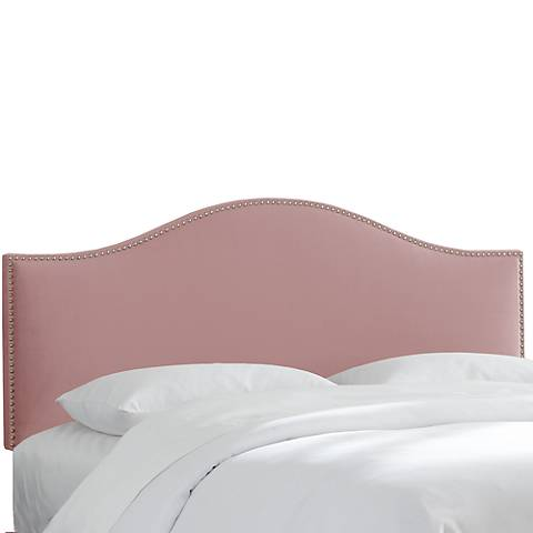 Obsession Smokey Amethyst Arched Headboard
