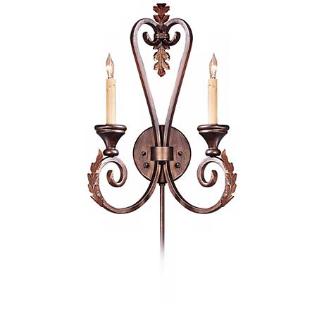"""Currey and Company Orleans 20"""" High Plug-In Wall Sconce"""