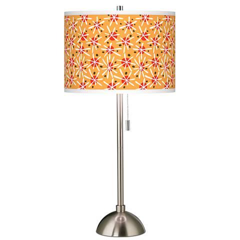 Seastar Giclee Brushed Steel Table Lamp