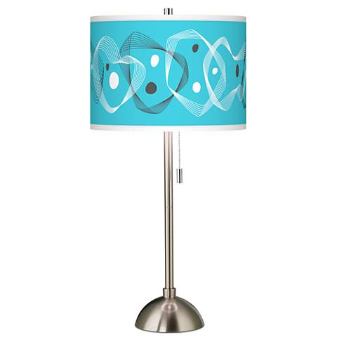 Spirocraft Giclee Brushed Steel Table Lamp