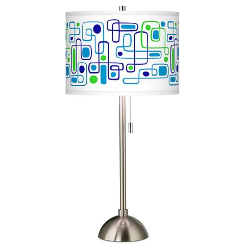 Racktrack Giclee Brushed Steel Table Lamp