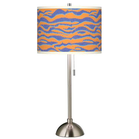 Sunset Stripes Giclee Brushed Steel Table Lamp