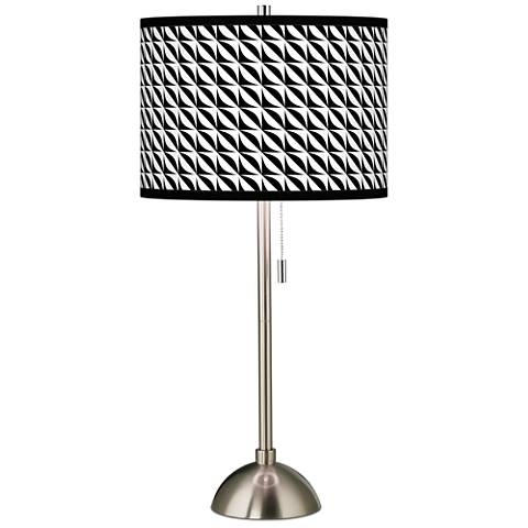 Waves Giclee Brushed Steel Table Lamp
