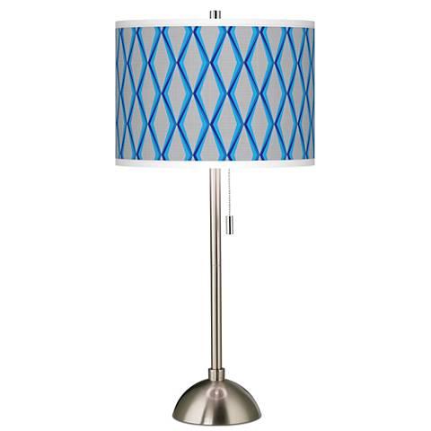 Bleu Matrix Giclee Brushed Steel Table Lamp