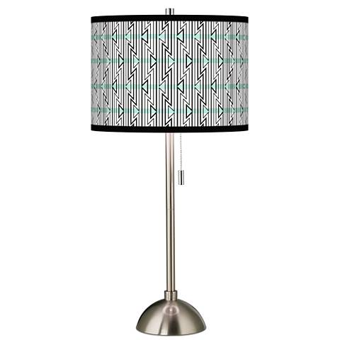 Indigenous Giclee Brushed Steel Table Lamp