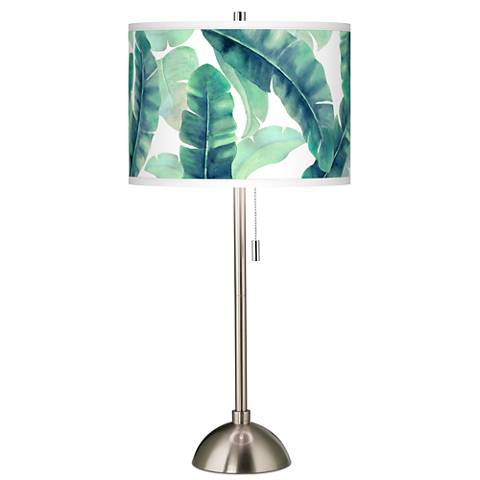 Guinea Giclee Brushed Steel Table Lamp
