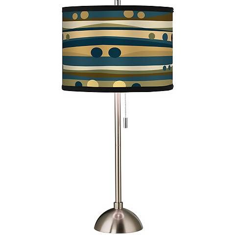 Giclee Dots & Waves Table Lamp