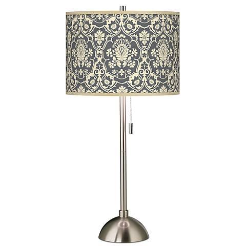 Seedling by thomaspaul Damask Brushed Steel Table Lamp