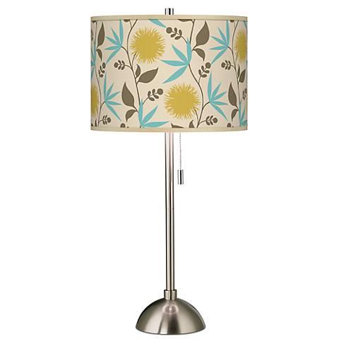 Seedling by thomaspaul Dahlia Brushed Steel Table Lamp
