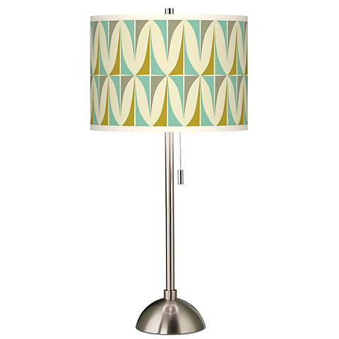 Vernaculis I Giclee Brushed Steel Table Lamp