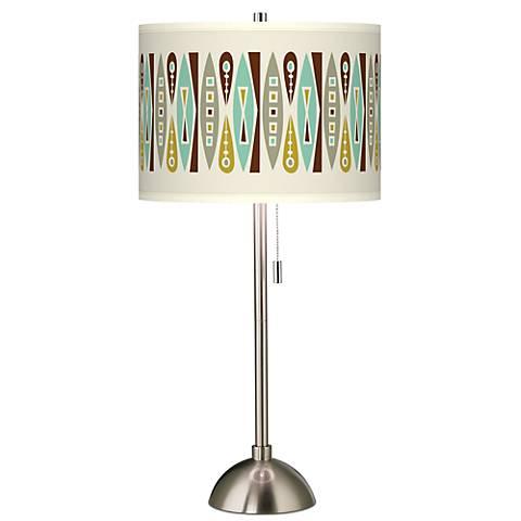 Vernaculis II Giclee Brushed Steel Table Lamp