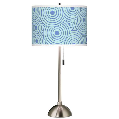 Circle Daze Giclee Brushed Steel Table Lamp