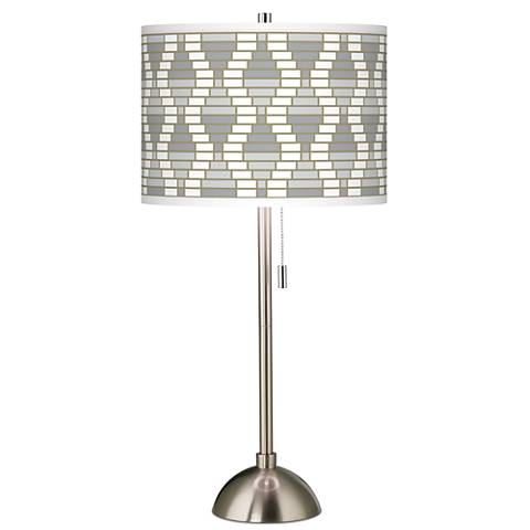 Stepping Out Giclee Brushed Steel Table Lamp
