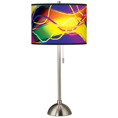 Giclee Colors in Motion Light Pattern Shade Table Lamp