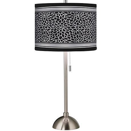 Stacy Garcia Metropolitan Dahlia Brushed Steel Table Lamp