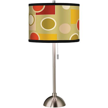Retro Citrus Medley Giclee Brushed Steel Table Lamp