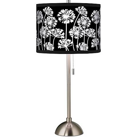 Stacy Garcia African Lily Black Brushed Steel Table Lamp