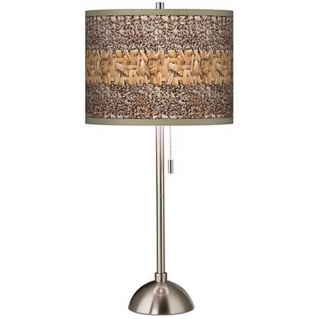 Woven Fundamentals Giclee Shade Table Lamp