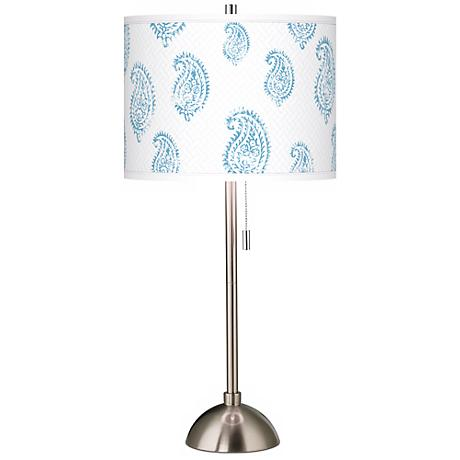 Paisley Snow Giclee Contemporary Table Lamp