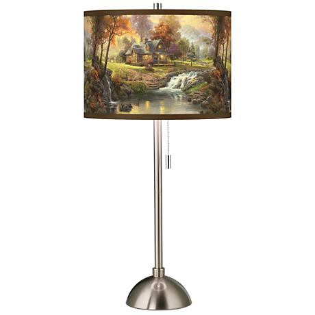 Thomas Kinkade Mountain Retreat Table Lamp