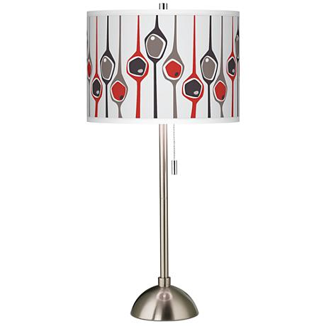 Shutter Giclee Brushed Steel Table Lamp